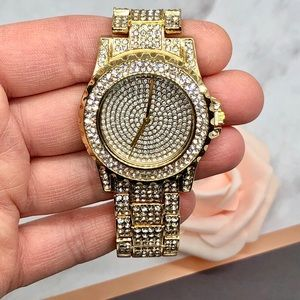 Gold Crystal Covered Watch
